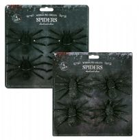 Large Creepy Glittery Spiders (4)
